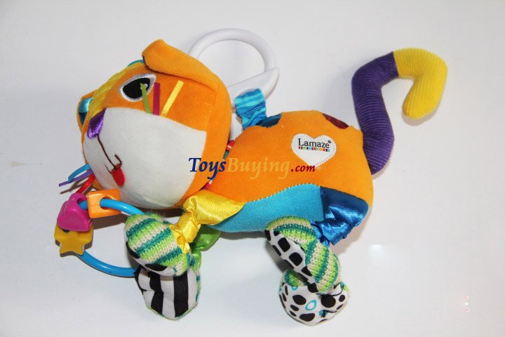 6pcs/lot 2012 newest lamaze baby toy colorful plush toy multipurpose Lamaze cat baby rattle bed bell/bed hang + free shipping(China (Mainland))