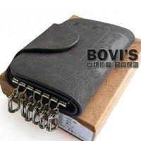 Grind arenaceous leather key bag men's lady multi-function key bag 10CM*7CM*2CM Free shipping K1029