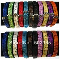 8mm 50pcs Sequin PU Wristband Bracelet DIY Accessories