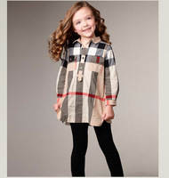 Girls Cotton Sets:Stripe Shirt+Pants 2015 New Autumn Kids Suits Design Children Clothing Ready Stock