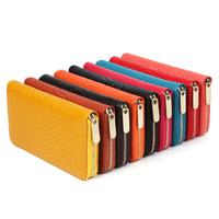 Hot Selling Snake Skin Prints Women Genuine Cow Leather Wallets Day Clutch Purse Fashion Zipper Wallet Bag, YW-DM528-1