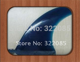 "8"" centre FIN blue design surfboard fin"