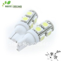 10pcs Free shipping White T10 194 168 W5W  9 SMD 5050 LED DC 12 V auto Car Led light