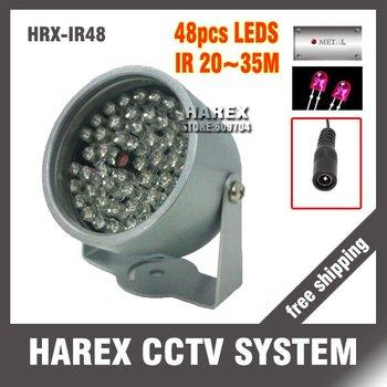 48PCS F5  Infrared LED illuminator light CCTV IR Infrared Night Vision 2 pcs/lot, free shipping.