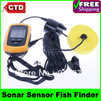 Factory Cheap Price!! Portable Fish Finder-- 100m Sonar Sensor Fish Finder Alarm Beam Transducer