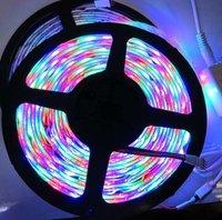 LED strip street light 3528 RGB SMD 5M 300 LED Strip Waterproof +24 Key IR Remote free shipping