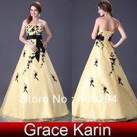 2013 Yellow Sexy Wedding gown,Hot Sale Off shoulder flower bride wedding sweet princess Slim wedding dress CL2520