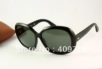 Free shipping New style High quality Designer sunglas Women's Fashion 4098 JACKIE OHH II Black sunglass Green lens case box