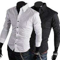 Fashion  hot sale Men's Small dot shirts , cotton100% , slim style, Free shipping , P624