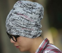 New fashion  Art signed letter Men's Women's hats cotton Korean hip-hop cap Unisex Free Shipping
