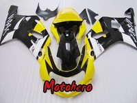 GSXR 600 750 01-03 GSXR600 GSXR750 2001-2003 GSX R600 R750 01 02 03 2001 2002 2003 yellow black motorcycle Fairing kit + gift