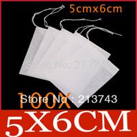 100 X Empty String Heat Seal Filter Paper Tea Bag 5X6CM