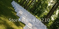 100pcs White folding chair cover 200gsm