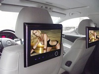 Car Headrest Video Playey support 720P/RMVB/MPEG-4/AVI video,support 8G SD card/USB and 32 bit wireless Games with contoller