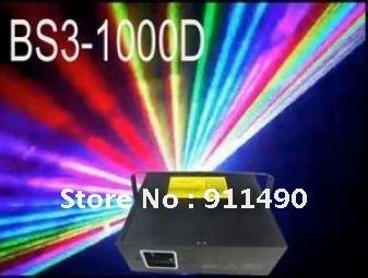 1W/1000mW RGB(Full Color) Laser Animation+ILDA+DMX 512+18CHS,Free shipping(BS3-1000D)(China (Mainland))