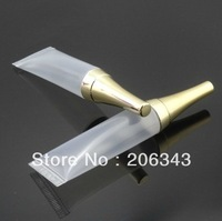 10ml transparent soft tube  with gold lid   EYE CREAM TUBE
