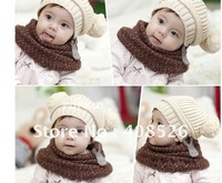 New Fashion Korean Flash Drill Baby Love Dual Ball Girls/Boys Wool Cap Hat 5 colors free shipping 7365
