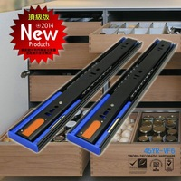 """VIBORG 50CM(20"""") Top Quality Super-smooth Three Sections Hydraulic Soft Close Full Extension Ball Bearing Drawer Slides"""
