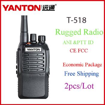 2pieces/lot factory direct sale waterproof shockproof dustproof 2 way radio walkie talkie set DTMF  YANTON T-518