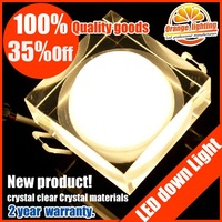 Free shipping ,crystal Popular high quality 3W Epistar led ceiling down lamp,high power led downlight ,330LM,2013New's rush!!!