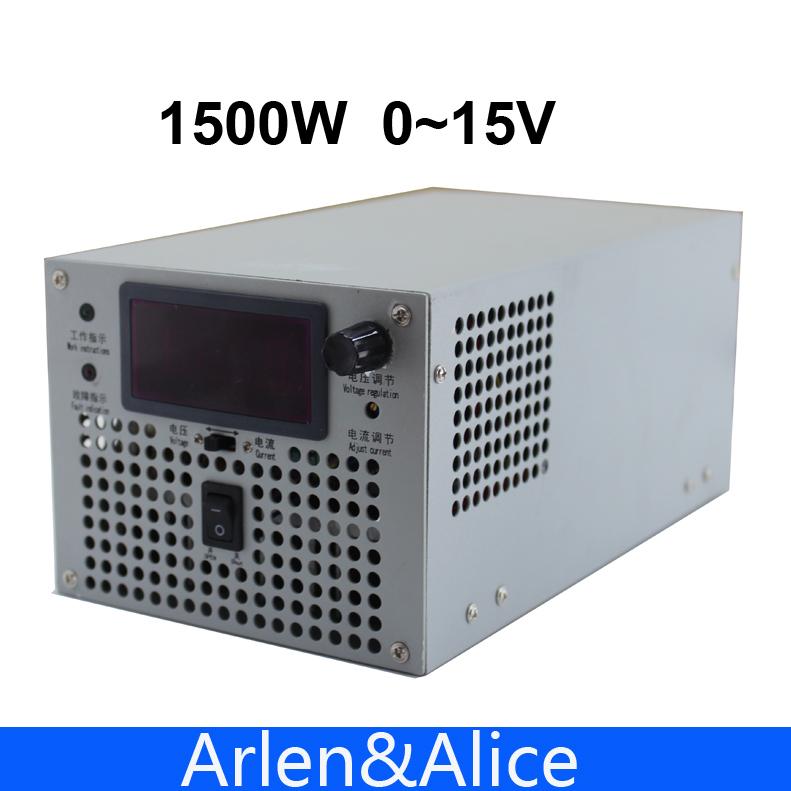 1500w 15v 100a einstellbar 220v Eingang einstellbar einzigen ausgang schaltnetzteil ac dc