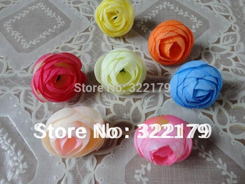 "100 pcs Silk Rose Heads Artificial Tea Roses Floral arrangements For wedding Wholesale 1.38""(China (Mainland))"
