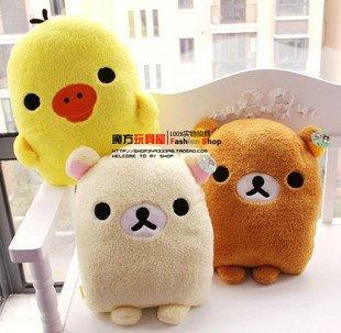 Free shipping ,wholesales 43cm Rilakkuma plush toys , 3pcs /lot, Cushion, pillow ,dolls