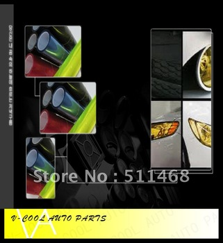 2012 new arrival 14 colours  0.3 x 10m Roll  Auto Car  transparent Light film Headlight Taillight Tint Vinyl Film