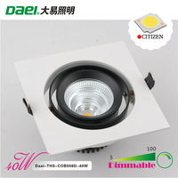 "Daei Brand 6"" LED Downlights 40W Recessed light Dimmable Citizen COB LED THS-COB008D-40WD 6pieces/lot  Free Shipping"