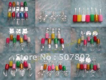 Capacity 5ml free shipping 100pcs/lot factory wholesale new design plastic empty clear nail polish bottle