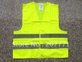 One free size fit all  reflective safety vest  with 5cm reflective  tapes 100% polyester fabric EN471standard MOQ10PCS(China (Mainland))