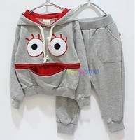 kids sport suit, girl's suit ,Sweater + trousers suits,children clothing