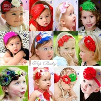TOP BABY headband hair  Accessories  girls lace hairband Christmas headwear infant cld
