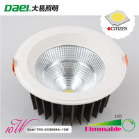 "Daei Brand 3"" LED Downlights 10W Recessed light Dimmable Citizen COB LED THS-COB004A-10WD 18pieces/lot Free Shipping"