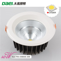 "Daei Brand 8"" LED Downlights 40W Recessed light  Citizen COB LED THS-COB004E-40W 4pieces/lot DHL/FedEx/EMS Free Shipping"
