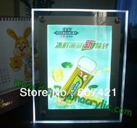 Single sided  countertop A4 Ultra slim crystal LED light boxes panel