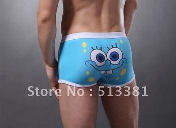 Free Shipping cotton men's panties cartoon underwear personalized Men's boxer shorts