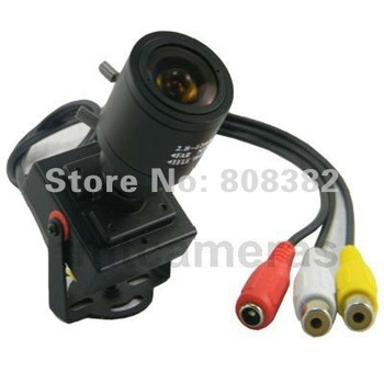 New 600TVL Mini CMOS CCTV Home Security Surveillance Audio Video Color Camera Mic 2.8-12mm Manual Focus Zoom MTV Lens