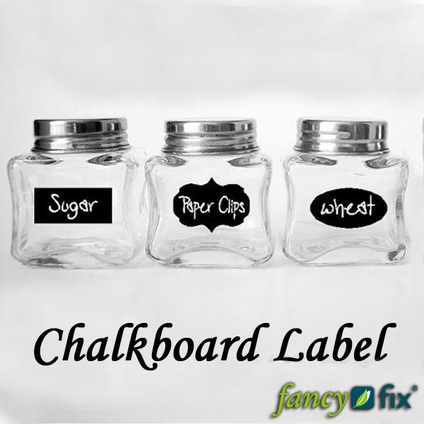 Cute Chalkboard Sticker Labels Vinyl Kitchen Pantry Organizing Home Sticker 3 Design 36 Decals 1 Free Chalk B12(China (Mainland))