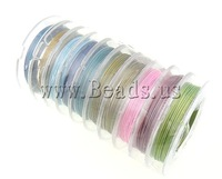 Jewelry Making DIY mixed colorS  Tiger Tail Wire, 0.38mm, 10m/1PC, 10PCs/Group, Sold by Group