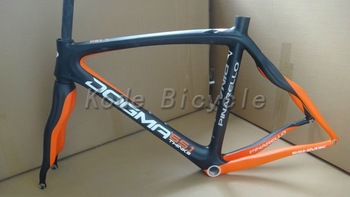 2013 Pinarello Dogma 65.1 Think2 aero Full Carbon naked / orange Bicycle Frame+fork+seatpost+clamp+headset 56cm Free shipping