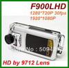 "Car dvr with 2.5 "" TFT + 1080P Car black box+HDMI interface F900LHD Free shipping"