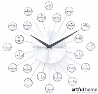 A017  wall clock luster design fashion wall decortation  Acrylic Star-sky Novelty Home Decoration 2014 new Modern Design crafts