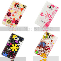High Qualiy Beautifu Flower 3D Rain Drop Plastic Hard Protection Case for Samsung Galaxy S2 i9100+1pc Screen Protector