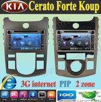 "7"" Car DVD Player with GPS Navigation for kia Forte Cerato Shuma Koup 2008 2009 2010 2011 / 3G internet"