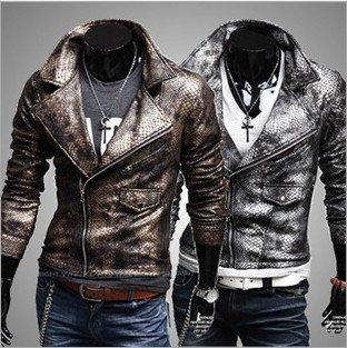 2012 new styles fashion Men's trend of clothing men's pu leather jacket motorcycle jacket punk style Free Shipping PU009