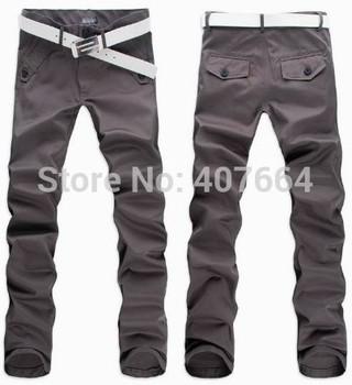 2015 men pants spring winter autumn men's casual pants fashion slim straight suit pants men skinny pants classic men trousers