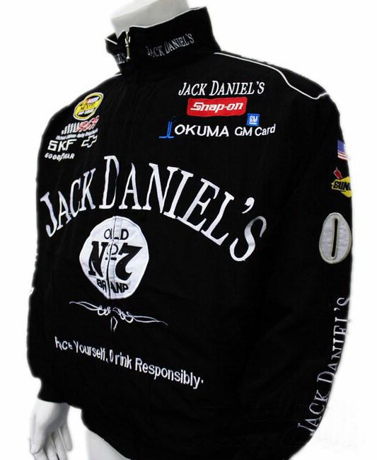 Road racing F1 JACKET GSN NASCAR BLACK motorcycle jacket for Jack daniel's(China (Mainland))