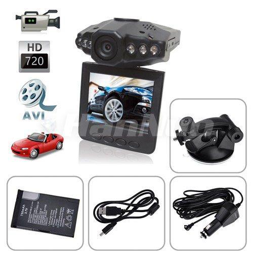 5pcs/lot Sales! Popular HD 720P Car DVR Vehicle Black Box with Night vision+2.5 Inch TFT Rotatable LCD Screen/motion detection(China (Mainland))