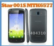 "Free shipping Star 001S MTK6577 Dual Core Android ICS Phone 512MB+4GB 1.2GHz 4.3"" QHD  (960*540) GPS WiFi Dual Sim 3G WCDMA"